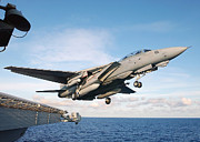 Carrier Prints - A F-14b Tomcat Aircraft Launches Print by Stocktrek Images