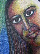 Indian Pastels Prints - A face Print by Nedunseralathan R