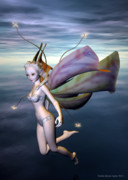 Faerie Digital Art Metal Prints - A Faerie Tale Metal Print by Sandra Bauser Digital Art