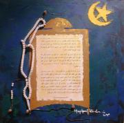 Religious Art Mixed Media Originals - A Faithful Prayer by Stephen Folaranmi