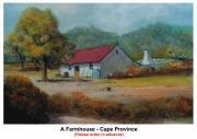 Province Town Paintings - A Farmhouse - Cape Province by Marie - Helene De Beer
