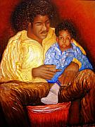 Keenya Woods Mixed Media - A Fathers Love by Keenya  Woods