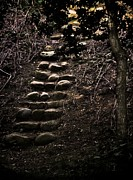 Stone Steps Posters - A Few More Steps Poster by Odd Jeppesen