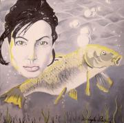 A Fish Named Angelina Print by Joseph Palotas