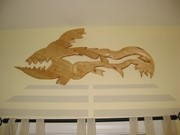 Batman Stencils Sculptures - A Fish Skeleton by Robert Margetts