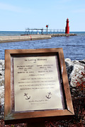 Beauty Mark Framed Prints - A Fishermans Prayer at Algoma Lighthouse Framed Print by Mark J Seefeldt
