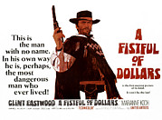 1960s Movies Posters - A Fistful Of Dollars Aka Per Un Pugno Poster by Everett