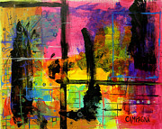 Acrylic Mixed Media Metal Prints - A Fleeting Thought Metal Print by Teddy Campagna