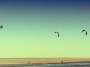 Russell Pheasey - A Flock of Kite Surfers...