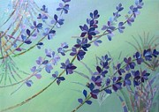 Color Purple Prints - A Flower Collage Print by Saori Murao