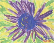 Pic Painting Posters - A Flower Poster by Yshua The Painter