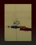 Fog On Water Framed Prints - A Foggy Day On Cape Cod Bay... Framed Print by Rene Crystal