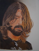 Fighters Drawings Prints - A Foo Fighter Print by Gary Fernandez