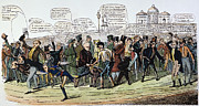 Democratic Republican Posters - A Foot Race: Cartoon, 1824 Poster by Granger