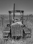 Dozer Framed Prints - A Forgotten Dozer Black and White Framed Print by Ken Smith