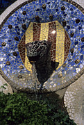 Gaudi Y Cornet Photo Posters - A Fountain Designed By Antoni Gaudi Poster by Taylor S. Kennedy
