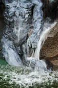 Art Product Prints - A Fountain With Flowing Water Jets Print by Charles Knox