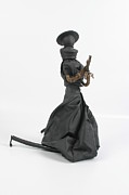 Umbrella Sculpture Prints - A Frayed Nun The Less Print by Michael Jude Russo