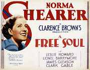 1931 Movies Framed Prints - A Free Soul, Norma Shearer, 1931 Framed Print by Everett