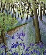Blue Purple Paintings - A Fresh Start by Pat Scott