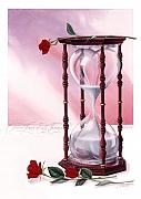 Red Hourglass Framed Prints - A Friend Loves At All Times Framed Print by Cliff Hawley