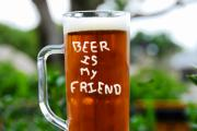 Frosty Mug Framed Prints - A friendly beer Framed Print by David Lee Thompson