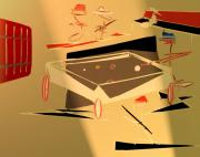 Abstract Expressionist Digital Art - A Friendly Game 2 by John Krakora
