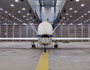 Global Hawk Prints - A Front View Of A Global Hawk Unmanned Print by Stocktrek Images