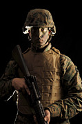 Infantryman Posters - A Front View Of An Infantryman Poster by Stocktrek Images