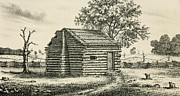 A Frontier Presbyterian Church. The Log Print by Everett