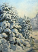 Oil Paintings - A frosty morning by Tigran Ghulyan