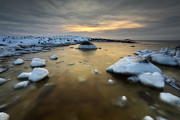 Ice Floes Art - A Frozen, Rusty Bay On Andoya Island by Arild Heitmann