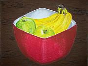 Ripe Pastels Posters - A Fruit A Day Poster by Sanchia Fernandes