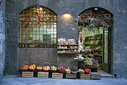 Fruit Markets Acrylic Prints - A Fruit And Vegetable Shop In Siena Acrylic Print by Taylor S. Kennedy