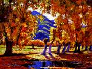 Impressionism Tapestries Textiles Originals - A Galaxy of Autumn Color by David Lloyd Glover