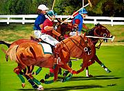 Michael Lee Metal Prints - A Game of Polo Metal Print by Michael Lee