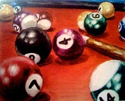 Games Pastels - A Game of Pool by Elizabeth Marks