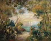 Water Garden Paintings - A Garden in Sorrento by Pierre Auguste Renoir