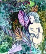 Fresco Framed Prints - A Garden Muse Framed Print by Mindy Newman