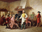 Tables Paintings - A Gentlemans Debate by Benjamin Eugene Fichel