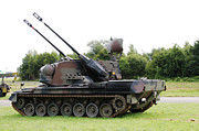 Component Photo Metal Prints - A Gepard Anti-aircraft Tank Metal Print by Luc De Jaeger