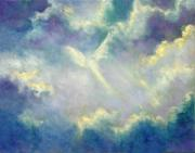 Visionary Art Painting Prints - A Gift From Heaven Print by Marina Petro