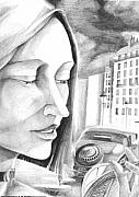 Paris Drawings Originals - A Girl In Paris by Neal Cormier
