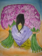 Sonali Singh - A girl with flowers