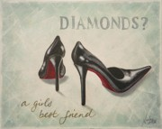 Sexy Shoes Prints - A girls best friend Print by Nicola Hill