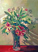 Shadows Paintings - A Glass Full of Spring by David Lloyd Glover