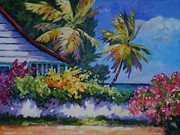 Virgin Gorda Island Art - A Glimpse of the Sea by John Clark