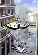 Clocks Posters - A Glitch In Time Poster by Mike McGlothlen