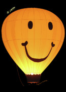 Hot Air Balloons Digital Art - A Glowing Smile by DigiArt Diaries by Vicky Browning