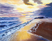 Stella Sherman Prints - A Golden Sand Moment Print by Stella Sherman